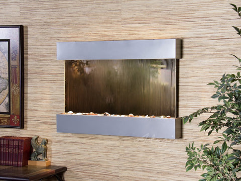 Wall Fountain - Reflection Creek - Bronze Mirror - Silver Metallic - rcs4541