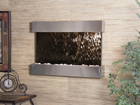 Wall Fountain - Reflection Creek - Bronze Mirror - Stainless Steel - rcs2041