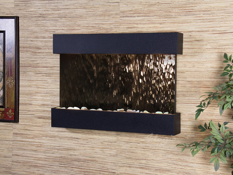 Wall Fountain - Reflection Creek - Bronze Mirror - Textured Black - rcs1741