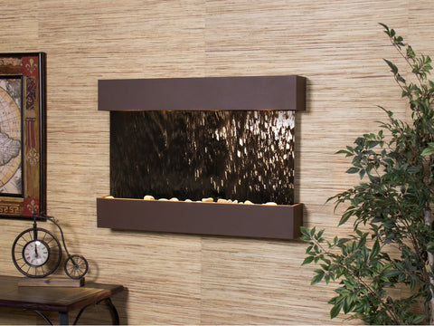 Wall Fountain - Reflection Creek - Bronze Mirror - Woodland Brown - rcs3741