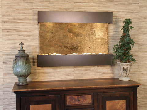 Wall Fountain - Reflection Creek - Green Slate - Antique Bronze - rcs3502_1