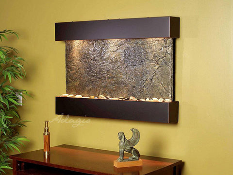 Wall Fountain - Reflection Creek - Green Slate - Blackened Copper - rcs1502__97299