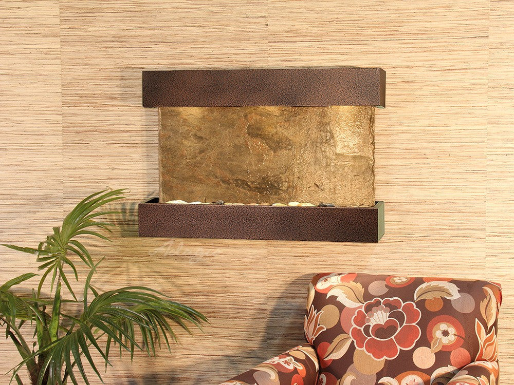 Wall Fountain - Reflection Creek - Green Slate - Copper Vein - rcs5002