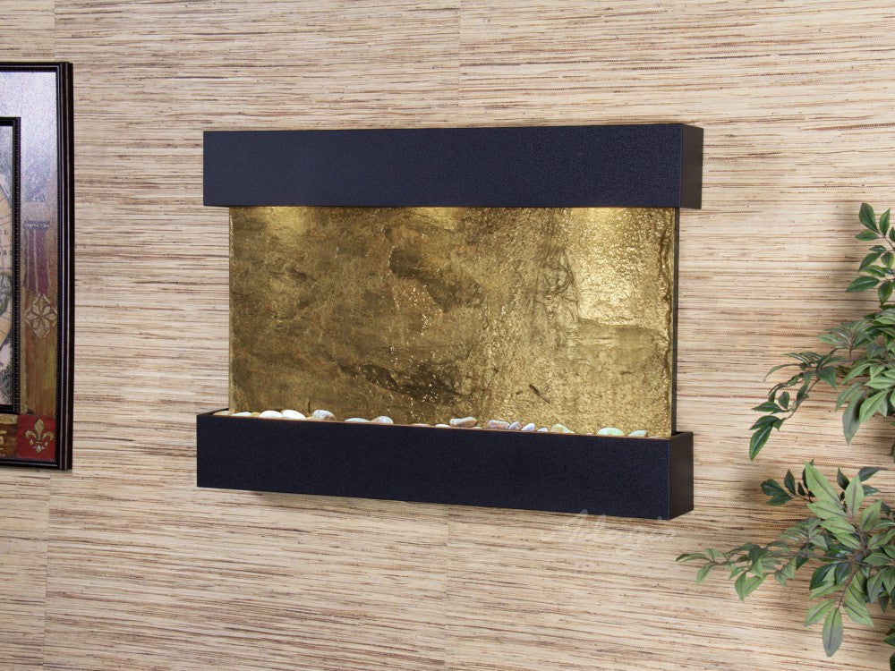 Wall Fountain - Reflection Creek - Green Slate - Textured Black - rcs1702
