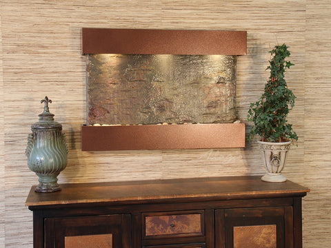 Wall Fountain - Reflection Creek - Green Slate - Woodland Brown - rcs3702