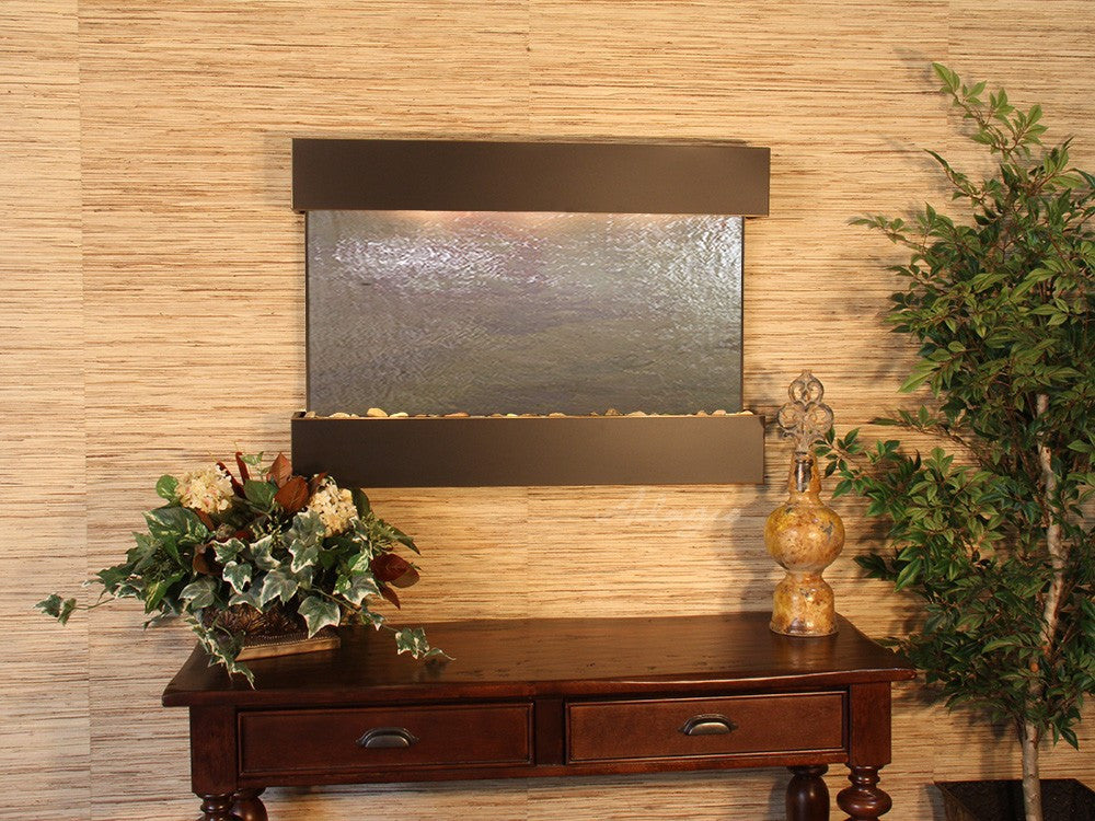 Wall Fountain - Reflection Creek - Multi-Color FeatherStone - Blackened Copper - rcs1514