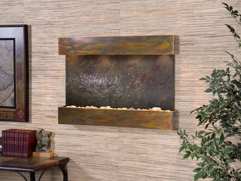 Wall Fountain - Reflection Creek - Multi-Color FeatherStone - Rustic Copper - rcs1014