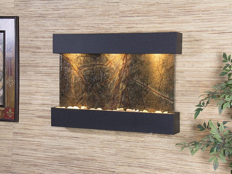 Wall Fountain - Reflection Creek - Rainforest Green Marble - Textured Black - rcs1705