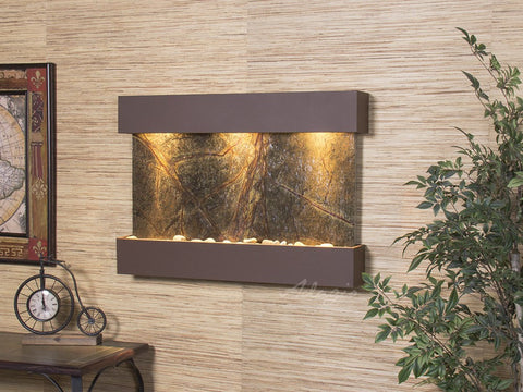 Wall Fountain - Reflection Creek - Rainforest Green Marble - Woodland Brown - rcs3705