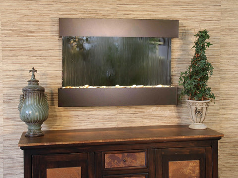 Wall Fountain - Reflection Creek - Silver Mirror - Antique Bronze - rcs3540