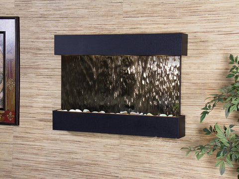Wall Fountain - Reflection Creek - Silver Mirror - Blackened Copper - rcs1740