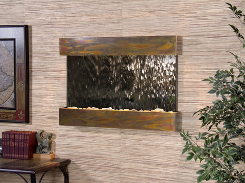 Wall Fountain - Reflection Creek - Silver Mirror - Rustic Copper - rcs1040