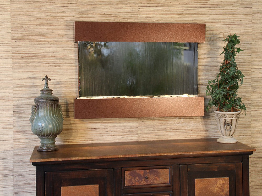 Wall Fountain - Reflection Creek - Silver Mirror - Woodland Brown - rcs3740