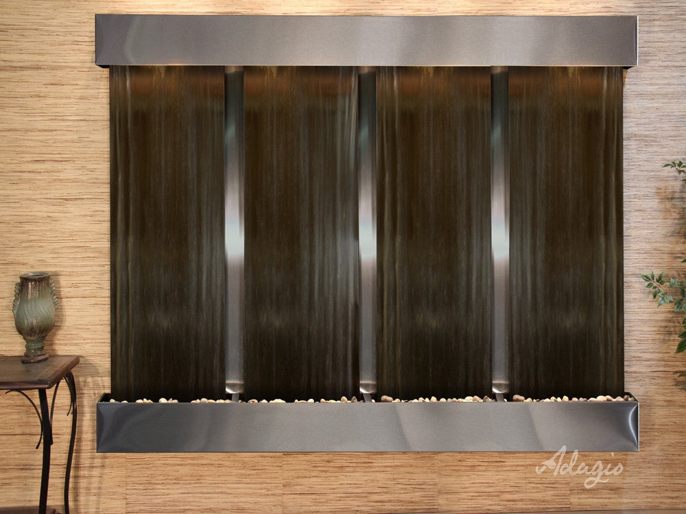 Wall Fountain - Regal Falls - Bronze Mirror - Stainless Steel - Squared - rfs20412