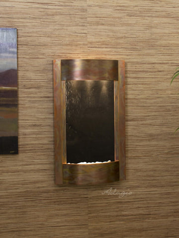 Wall Fountain - Serene Waters - Black FeatherStone - Rustic Copper - swa1011