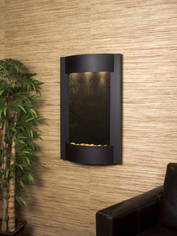 Wall Fountain - Serene Waters - Black FeatherStone - Textured Black - swa1711