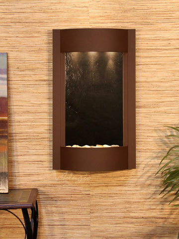 Wall Fountain - Serene Waters - Black FeatherStone - Woodland Brown - swa3711