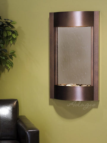 Wall Fountain - Serene Waters - Bronze Mirror - Copper Vein - swa50413