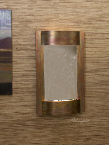 Wall Fountain - Serene Waters - Bronze Mirror - Rustic Copper - swa10412