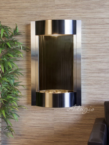 Wall Fountain - Serene Waters - Bronze Mirror - Stainless Steel - swa20412