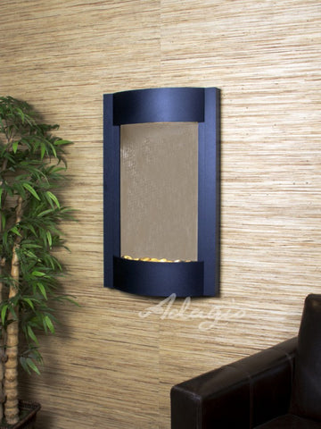 Wall Fountain - Serene Waters - Bronze Mirror - Textured Black - swa17412