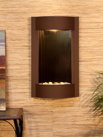 Wall Fountain - Serene Waters - Bronze Mirror - Woodland Brown - swa3741