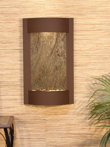 Wall Fountain - Serene Waters - Green FeatherStone - Woodland Brown - swa3712