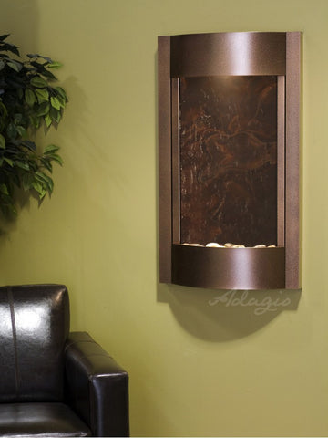 Wall Fountain - Serene Waters - Multi-Color FeatherStone - Copper Vein - swa5014