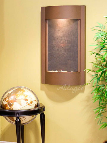 Wall Fountain - Serene Waters - Multi-Color FeatherStone - Woodland Brown - swa3714