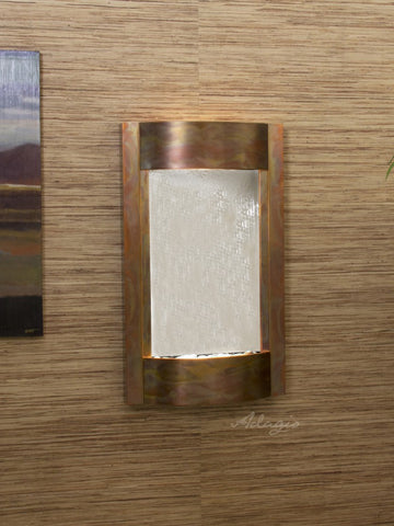 Wall Fountain - Serene Waters - Silver Mirror - Rustic Copper - swa1040
