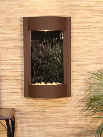 Wall Fountain - Serene Waters - Silver Mirror - Woodland Brown - swa3740