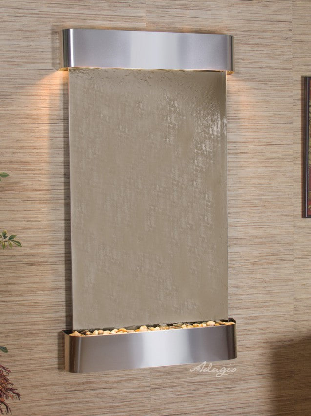 Wall Fountain - Summit Falls - Bronze Mirror - Stainless Steel - Rounded - sfr2041c