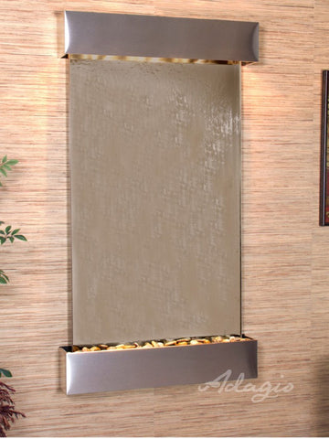 Wall Fountain - Summit Falls - Bronze Mirror - Stainless Steel - Squared - sfs2041a