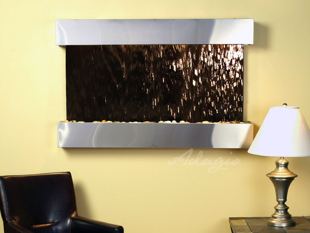 Wall Fountain - Sunrise Springs - Bronze Mirror - Stainless Steel - Squared - sss2041