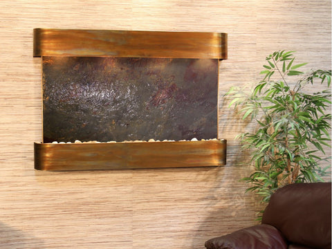 Wall Fountain - Sunrise Springs - Multi-Color FeatherStone - Rustic Copper - Rounded - ssr1014