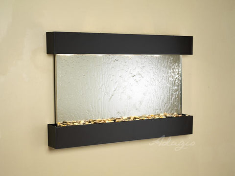 Wall Fountain - Sunrise Springs - Silver Mirror - Blackened Copper - Squared - sss1540__86385