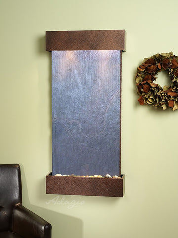 Wall Fountain - Whispering Creek - Black FeatherStone - Copper Vein - wcs5011