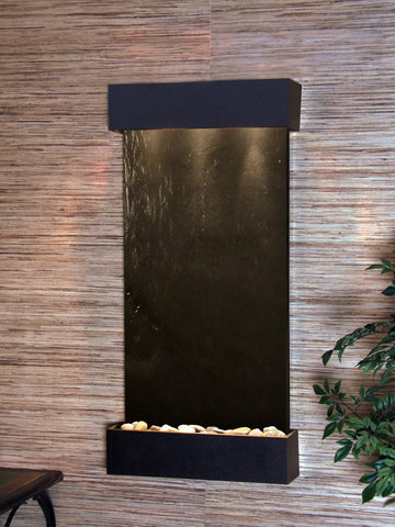 Wall Fountain - Whispering Creek - Black FeatherStone - Textured Black - wcs1711
