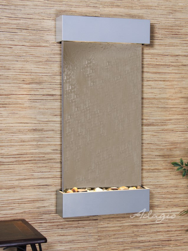 Wall Fountain - Whispering Creek - Bronze Mirror - Silver Metallic - wcs45412