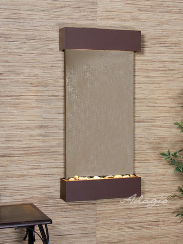 Wall Fountain - Whispering Creek - Bronze Mirror - Woodland Brown - wcs37412