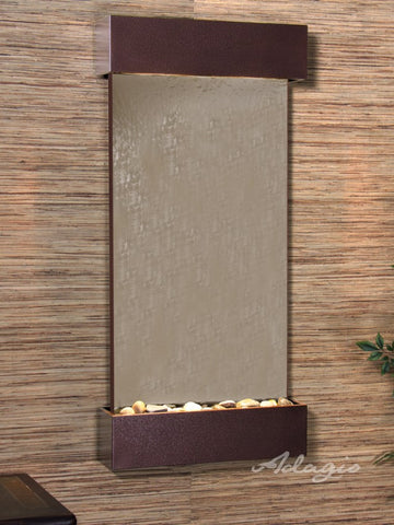 Wall Fountain - Whispering Creek - Bronze Mirror - Woodland Brown - wcs50412