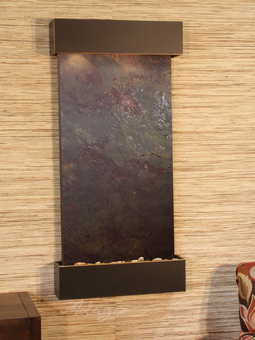 Wall Fountain - Whispering Creek - Multi-Color FeatherStone - Blackened Copper - wcs1514