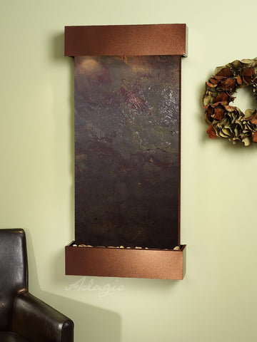 Wall Fountain - Whispering Creek - Multi-Color FeatherStone - Copper Vein - wcs3714