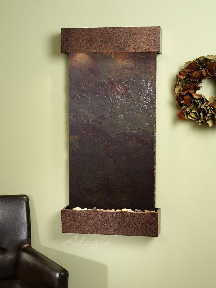 Wall Fountain - Whispering Creek - Multi-Color FeatherStone - Copper Vein - wcs5014