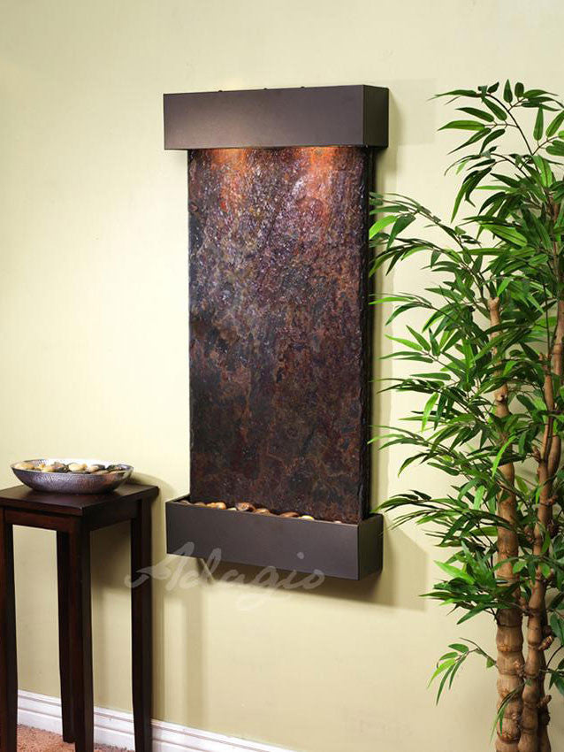 Wall Fountain - Whispering Creek - Multi-Color Slate - Antique Bronze - wcs3504__00260