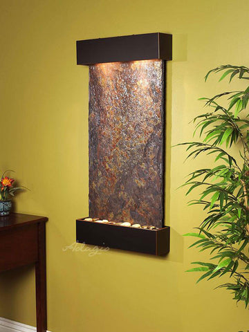 Wall Fountain - Whispering Creek - Multi-Color Slate - Blackened Copper - wcs1504__38229