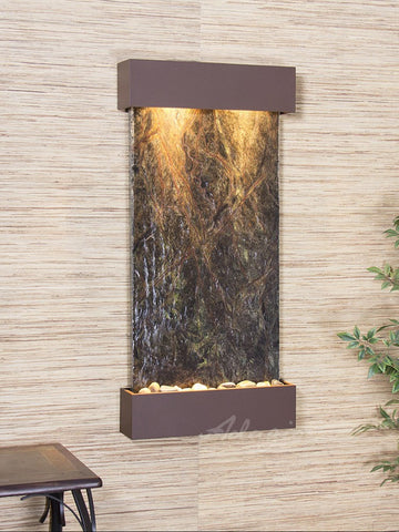 Wall Fountain - Whispering Creek - Rainforest Green Marble - Woodland Brown - wcs3705