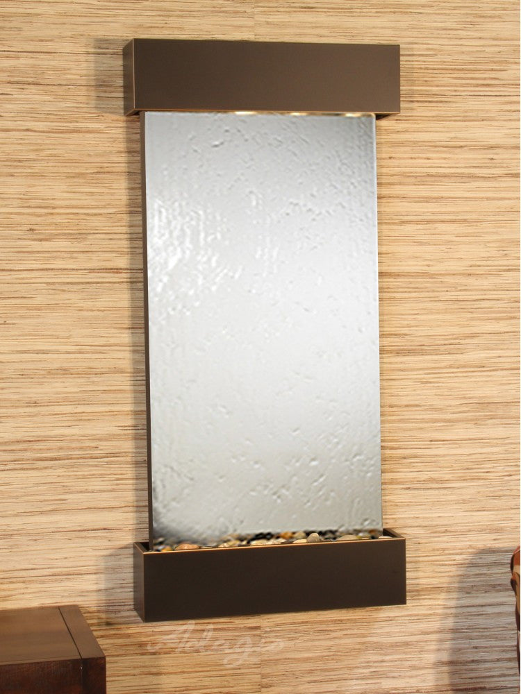 Wall Fountain - Whispering Creek - Silver Mirror - Blackened Copper - wcs1540