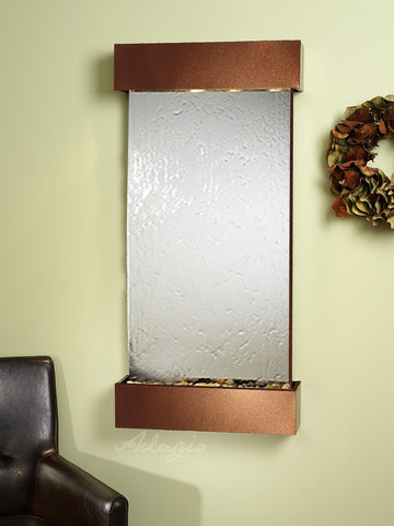 Wall Fountain - Whispering Creek - Silver Mirror - Copper Vein - wcs3740