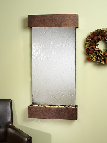 Wall Fountain - Whispering Creek - Silver Mirror - Copper Vein - wcs5040